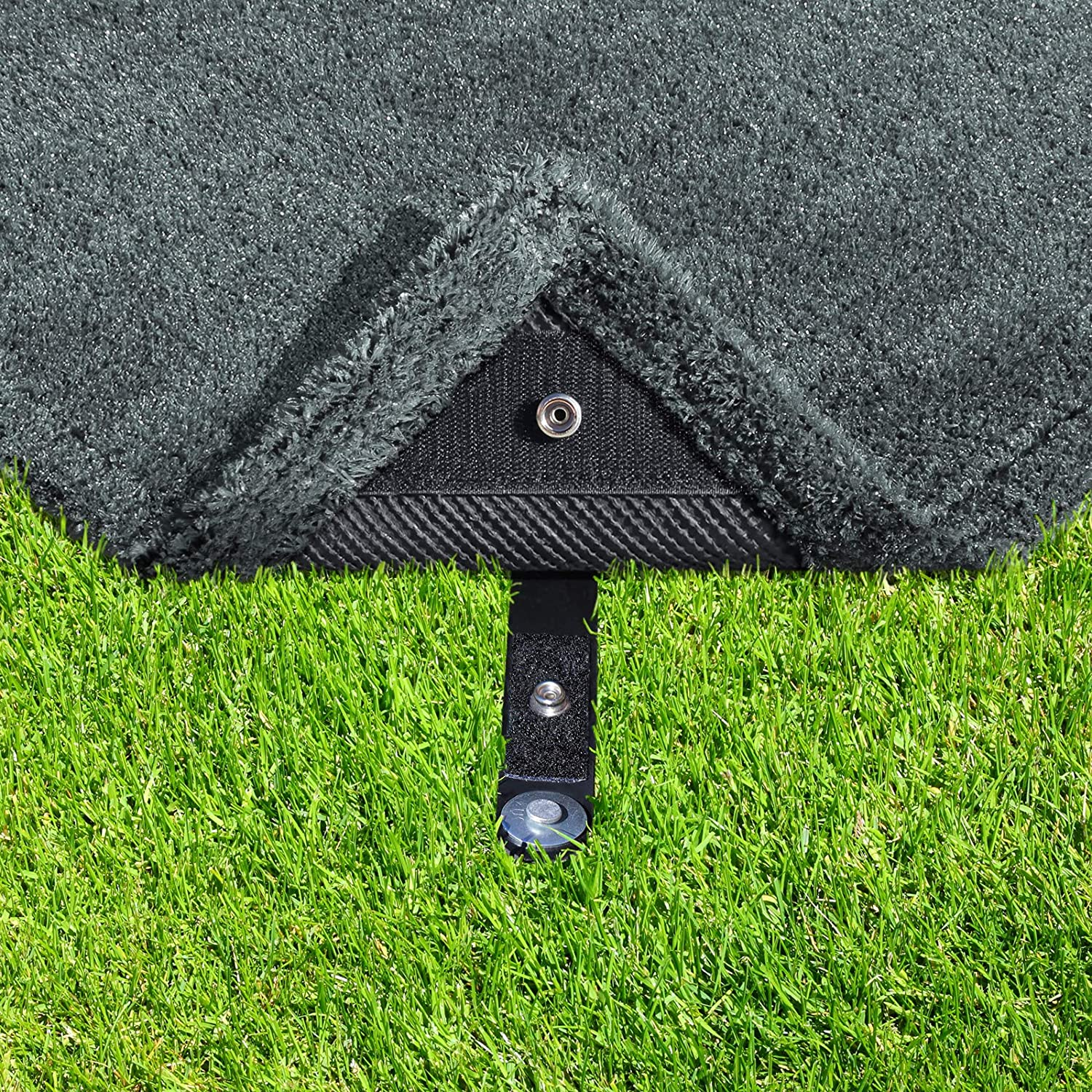 6 x 9 Stone Gray Prest-O-Fit 2-1184 Surface Mate Patio Rug