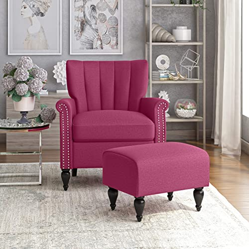 Domesis Channel Tufted Rolled Arm Chair and Ottoman Review