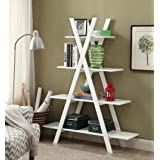 "Convenience Concepts Oxford ""A"" Frame Bookshelf, White"