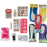 Am Quilling Craft Complete Kit Combo Materials For Jewellery Making & Designing - Multi Color