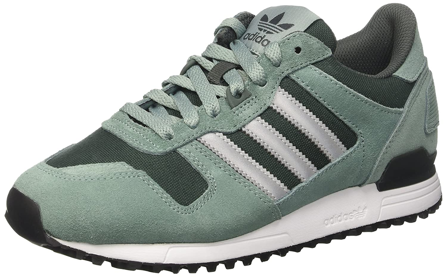 adidas Unisex-Erwachsene ZX 700 Low-Top  40 EU|T眉rkis (Vapour Steel F16/Metallic Silver-sld/Utility Ivy F16)