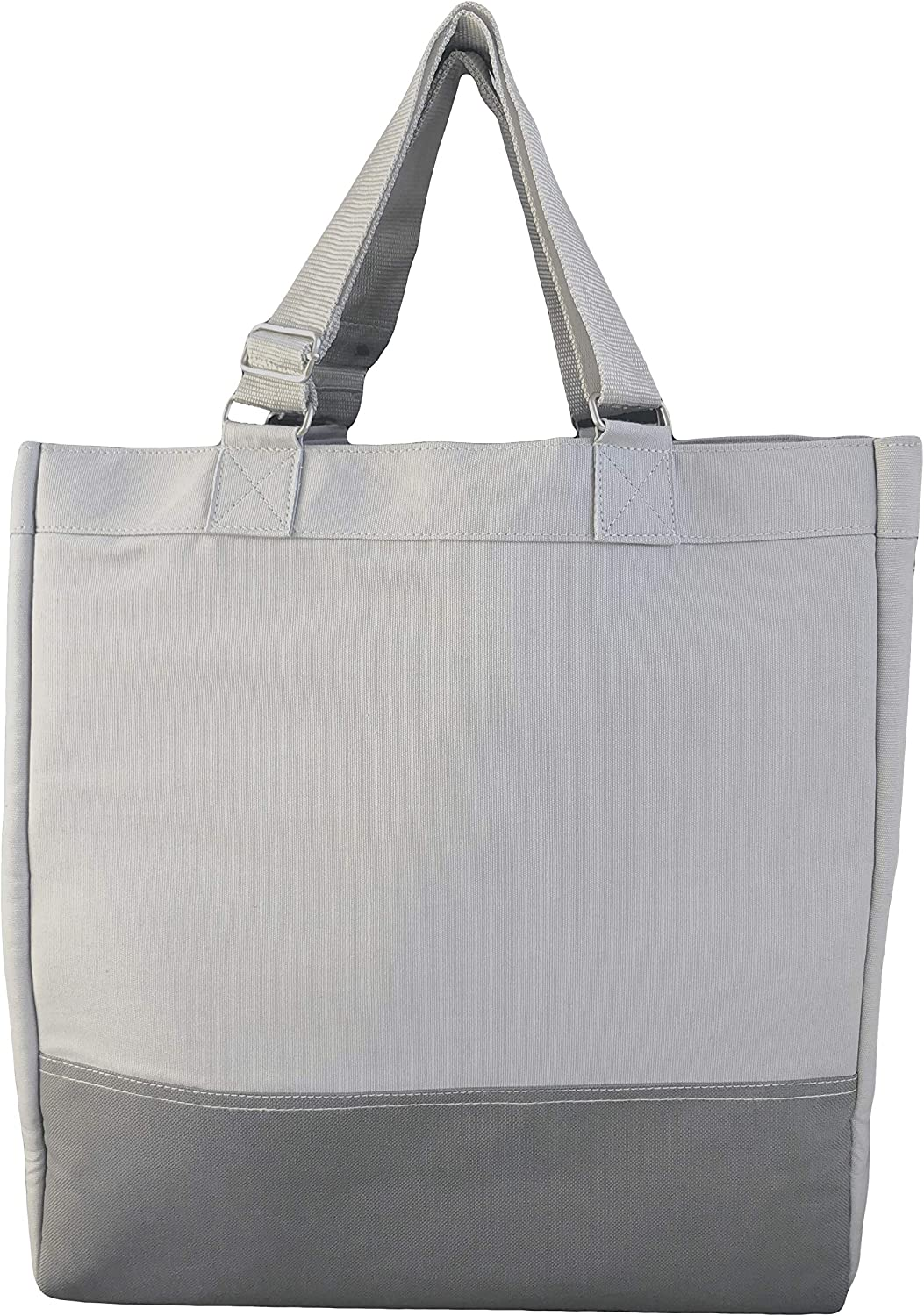 Cotton canvas carryall Compact tote with storage sleeve MARKET BAG with SLEEVE environment friendly bag