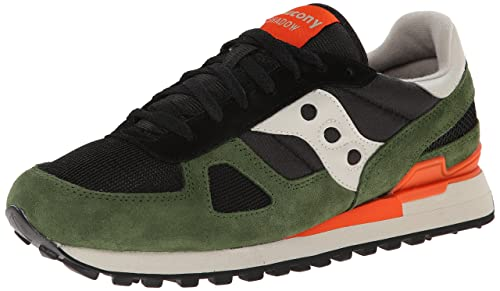 f535f8b313367 Saucony Jazz Original, mens Shadow Original Cross Trainers, Black / Green,  9 UK