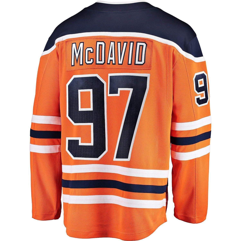 Connor McDavid Edmonton Oilers Orange Youth Home Premier Jersey
