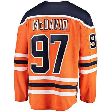 Connor McDavid Edmonton Oilers Orange Youth Home Premier Jersey  (Small Medium 8-12 b44765e6d