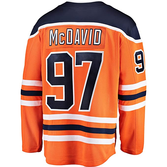 brand new db203 e60d0 Connor McDavid Edmonton Oilers Orange Youth Home Premier Jersey