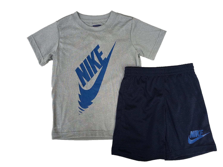 619206b4997b Amazon.com: Nike Boy`s Dri-Fit T-Shirt & Shorts 2 Piece Set: Clothing
