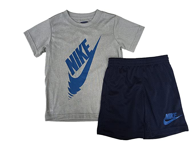 f0b384b0e Amazon.com: Nike Boy`s Dri-Fit T-Shirt & Shorts 2 Piece Set: Sports ...