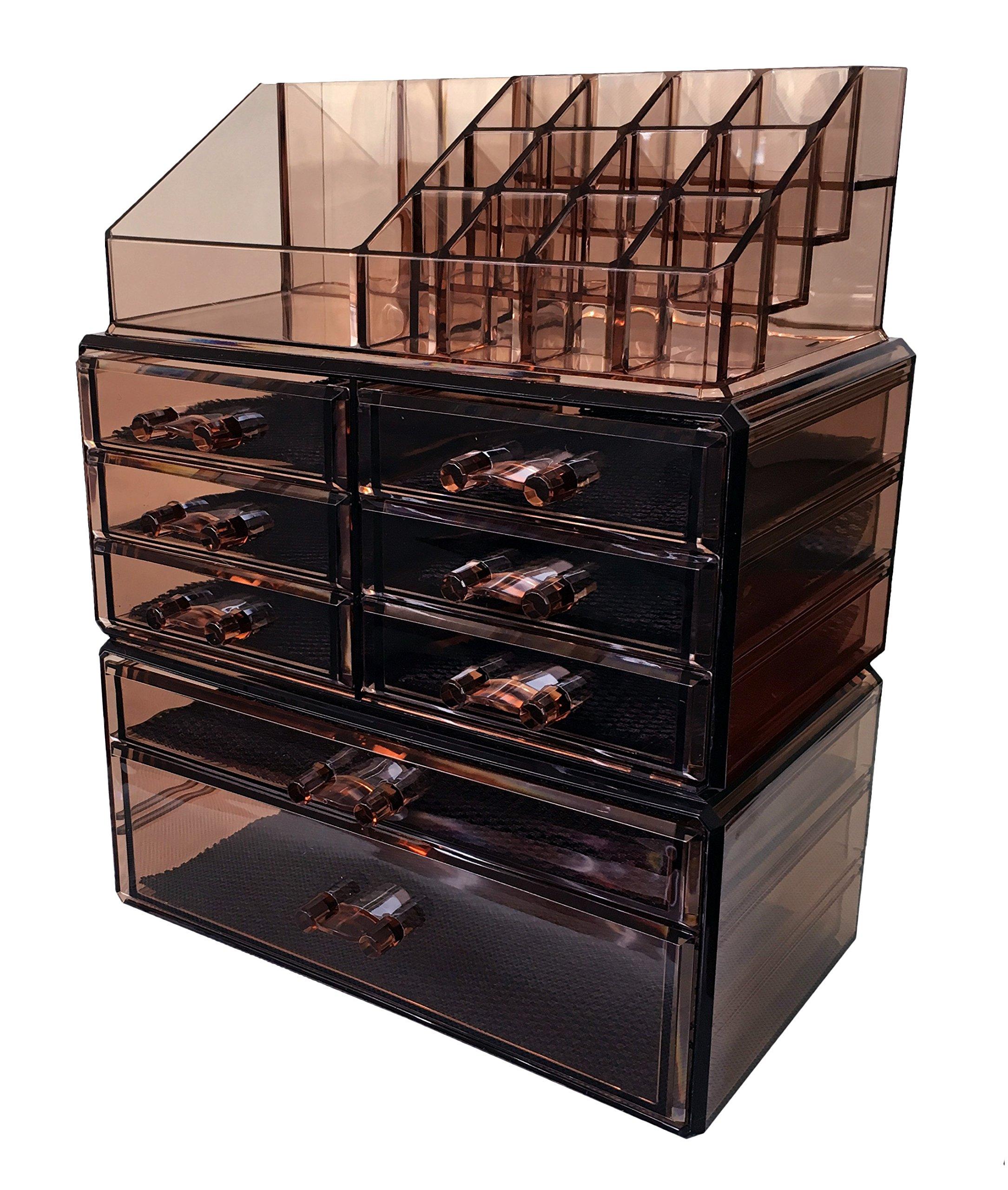 Sodynee Acrylic Makeup Cosmetic Organizer Storage Drawers