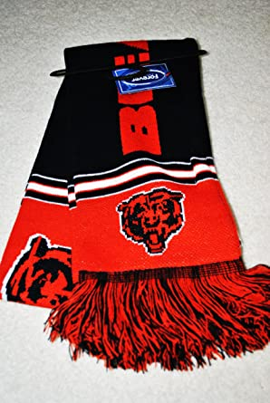 Chicago Bears NFL Stadium two sided Team logo Jersey fashion Scarf
