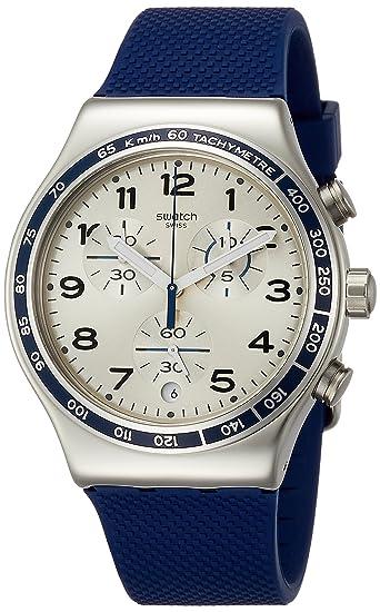 Swatch Reloj Analogico para Hombre de Cuarzo con Correa en Silicona YVS439: Amazon.es: Relojes
