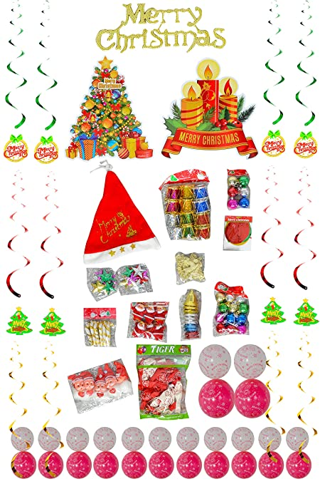 Mery Christmas.Zotec 128 Piece Christmas Decoration Combo Set Mery