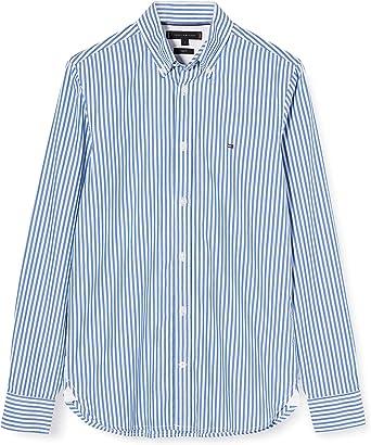 Tommy Hilfiger Hyper Classic Stripe Shirt Camisa para Hombre: Amazon.es: Ropa y accesorios