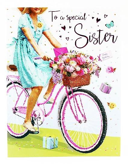 Tarjeta de felicitación de cumpleaños para hermana especial ...