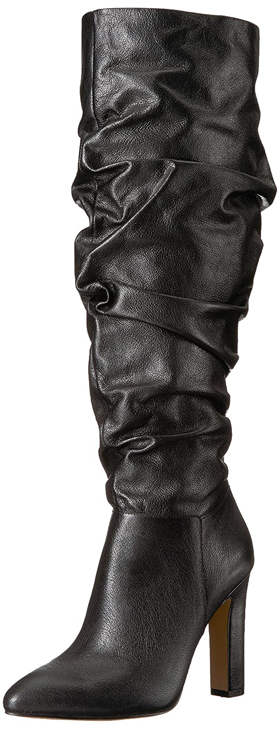 The Fix Women's Kennedi Pointed-Toe to-The-Knee Slouch Boot B074JQKKVM 10 M US|Black Leather