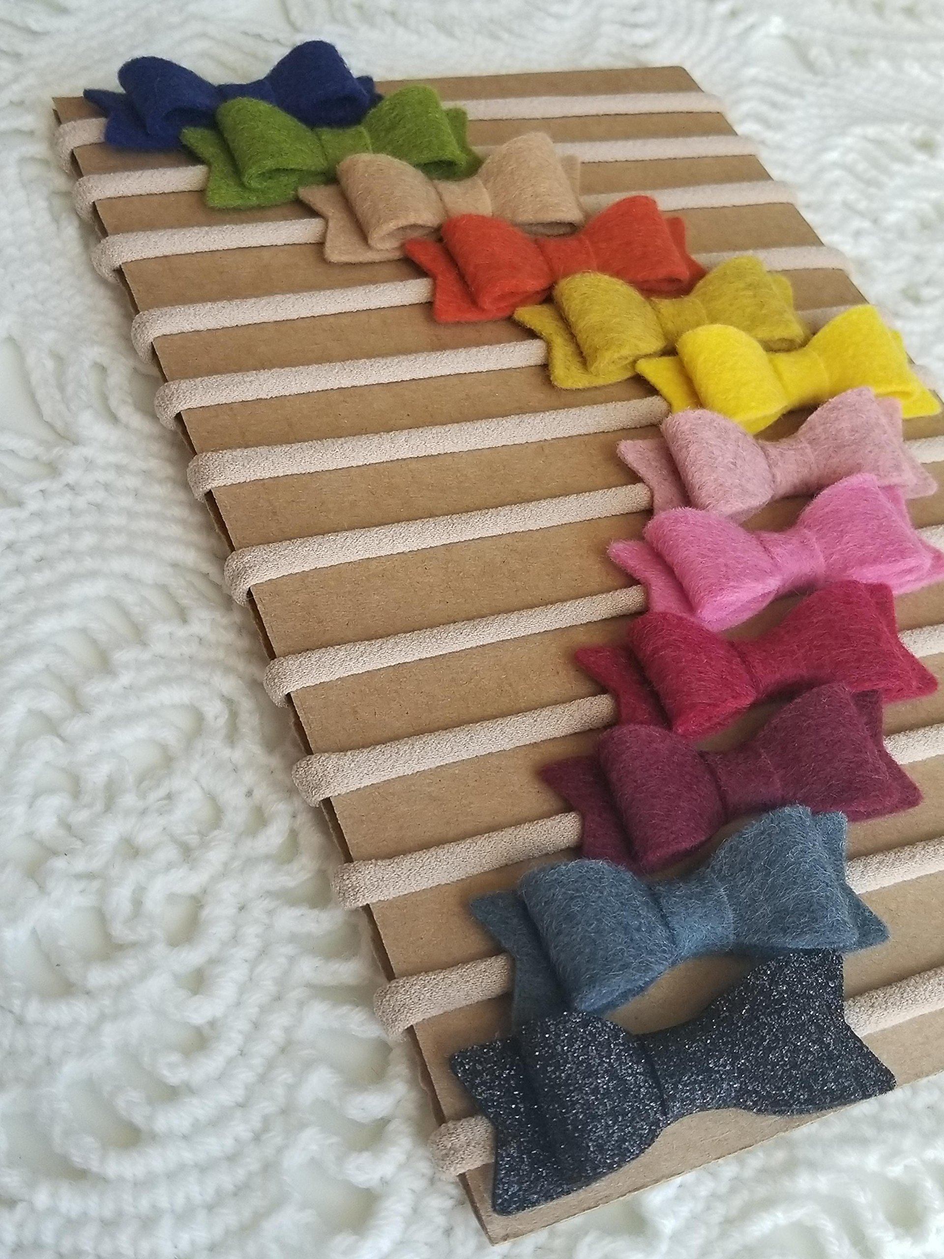 Handmade baby headband Fall Rainbow Baby Bows nylon headbands Vanaguelite baby girl
