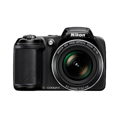 """Nikon Coolpix L340 Appareil photo numérique compact 20,2 Mpix Écran LCD 3"""" Zoom optique 28X Noir"""