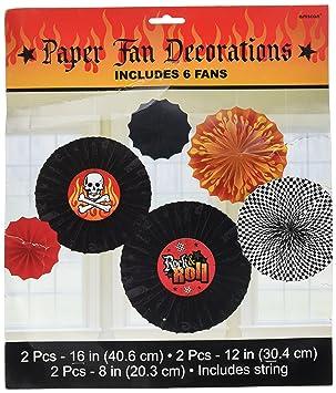 Rock de Metal pesado fiestas de ventilador de papel impreso decoración surtido