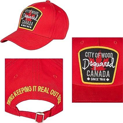 Gorra Dsquared Baseball Cap Rosso Cit of Wood Canada **B-Quality ...