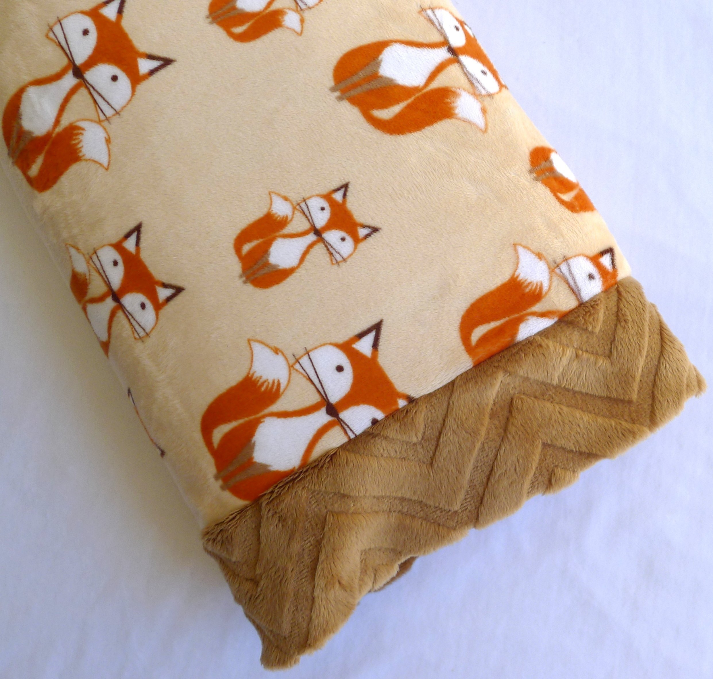 Toddler Pillowcase - Fox Bedding - Made by Sugar Doodle Boutique - Pillow 12 X 16 - Minky - Made in USA!