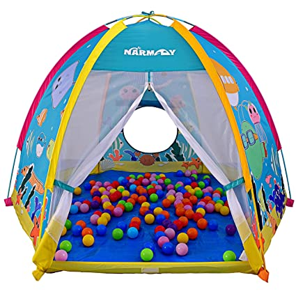 Amazon.com: NARMAY Play Tent Ocean World Dome Tent for Kids ...