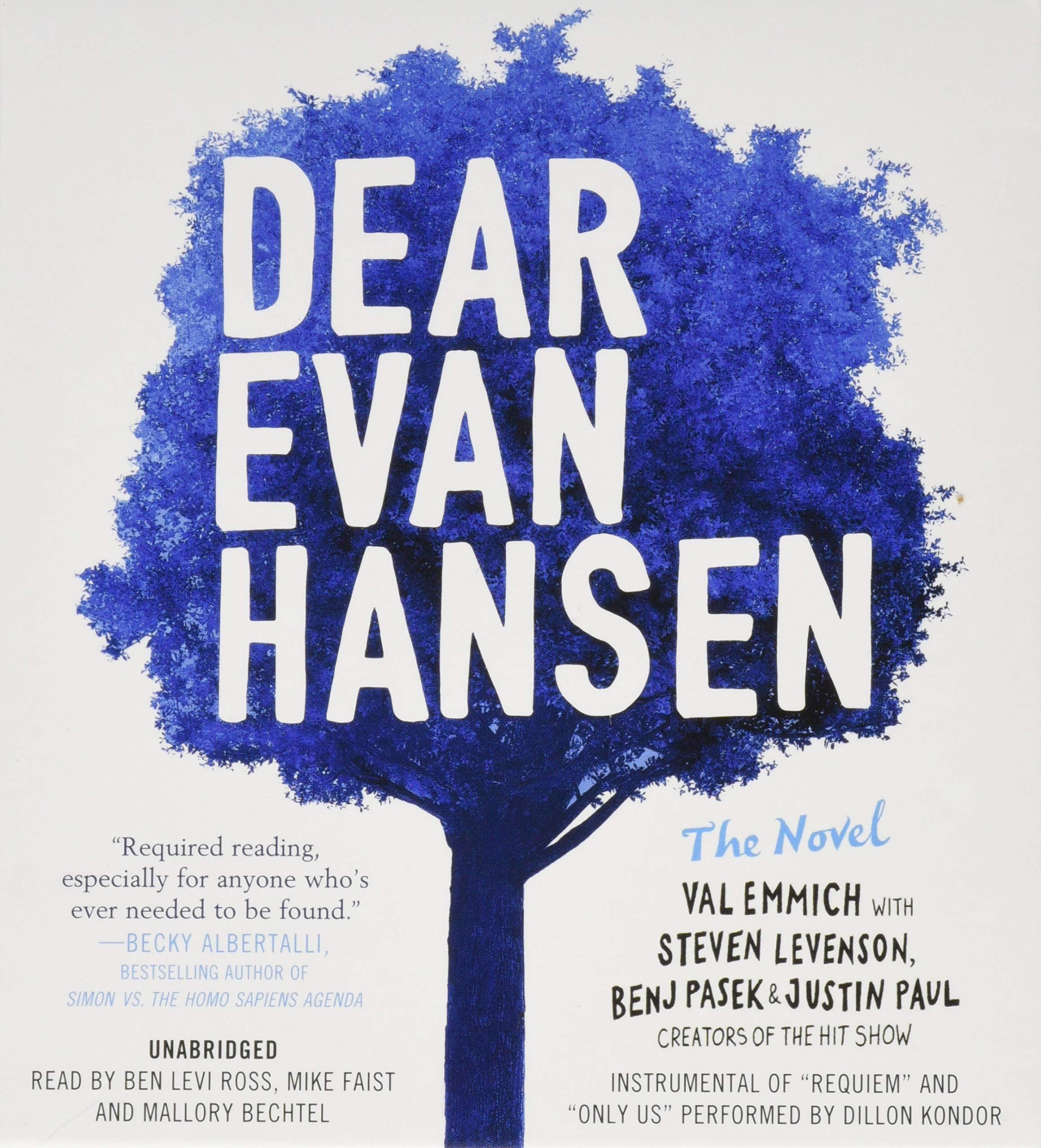 Dear Evan Hansen: The Novel: Amazon.es: Val Emmich, Steven ...