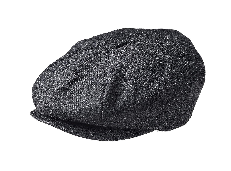 057097e9f Peaky Blinders Men ' s 8 Piece ' Newsboy ' Style Flat Cap Wool ...