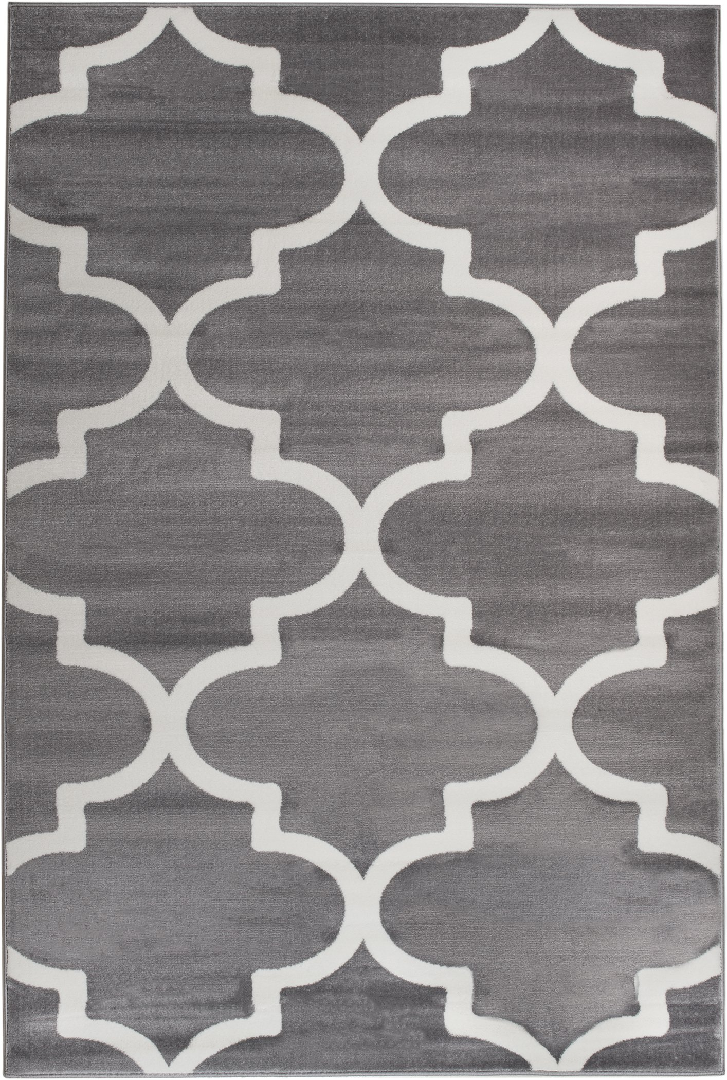 Summit UY-IQR5-MN5T 50 Grey Trellis Area Rug Modern Abstract Many Sizes Available , DOOR MAT 22 inch x 35 inch
