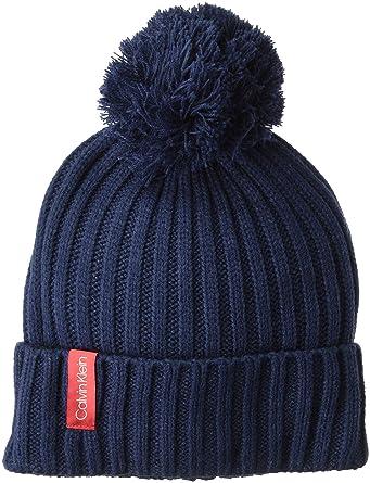 Calvin Klein Women s Basic Rib Pom Hat c809c7dd349