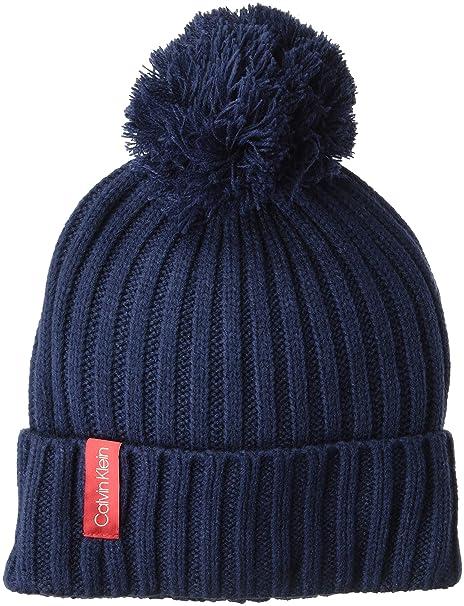 d814706f7bd30 Calvin Klein Women s Basic Rib Pom Hat