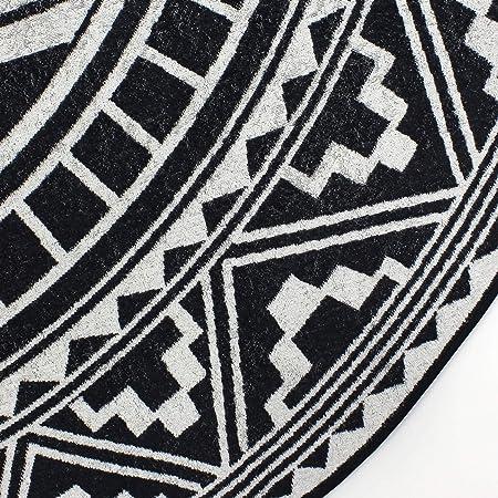 Fouta toalla de playa redonda R180/cm 100/% algod/ón 290/g//m/² PELOSA Mosaic Arabesque negro