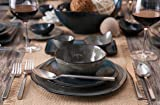 D&V 6 Piece Stōn Porcelain Dinnerware Bread and