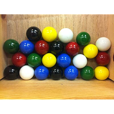 """Mega Marbles Set of 24 1"""" Shooter Marbles Solid Colors (4 of Each Color): Toys & Games"""