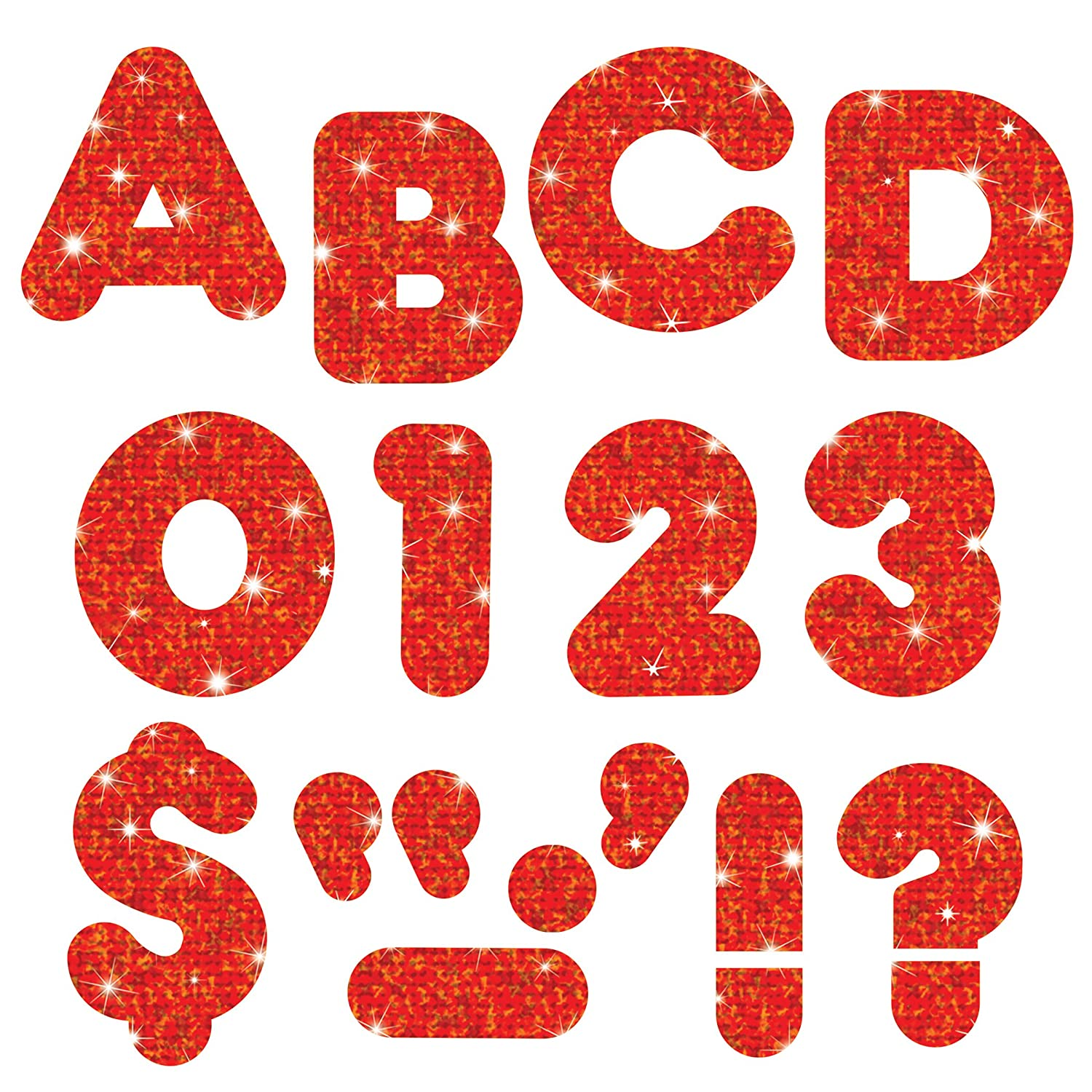 140 Classroom display board ready letters Sparkle Red 2