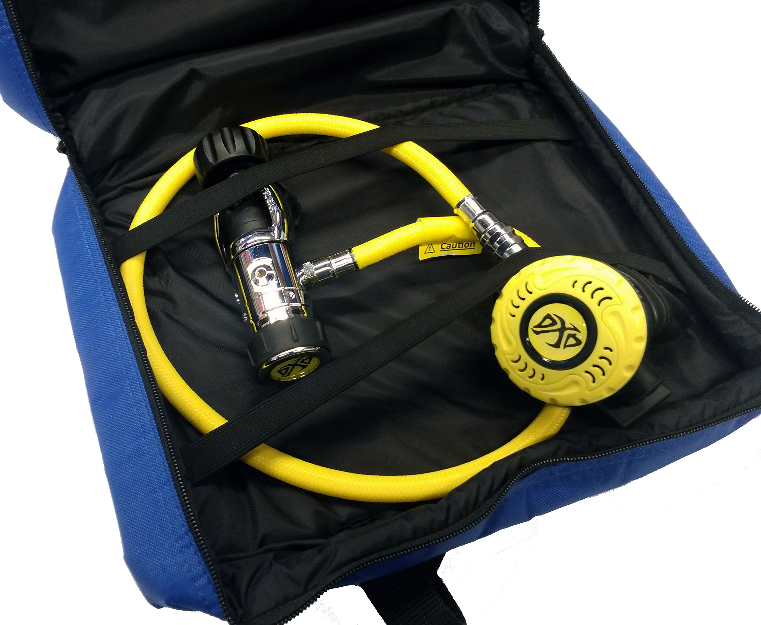 DXDIVER Diving Regulator with Braided Flex Hose First and Second Stage Scuba Dive with FREE Reg Bag