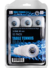 Sportly Table Tennis Ping Pong Balls, 3-Star 40Mm Advanced Training Regulation Balls 12 Pack White