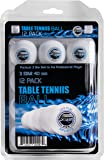 Sportly® 3 Star 40mm Training Table Tennis Balls (White, 12)