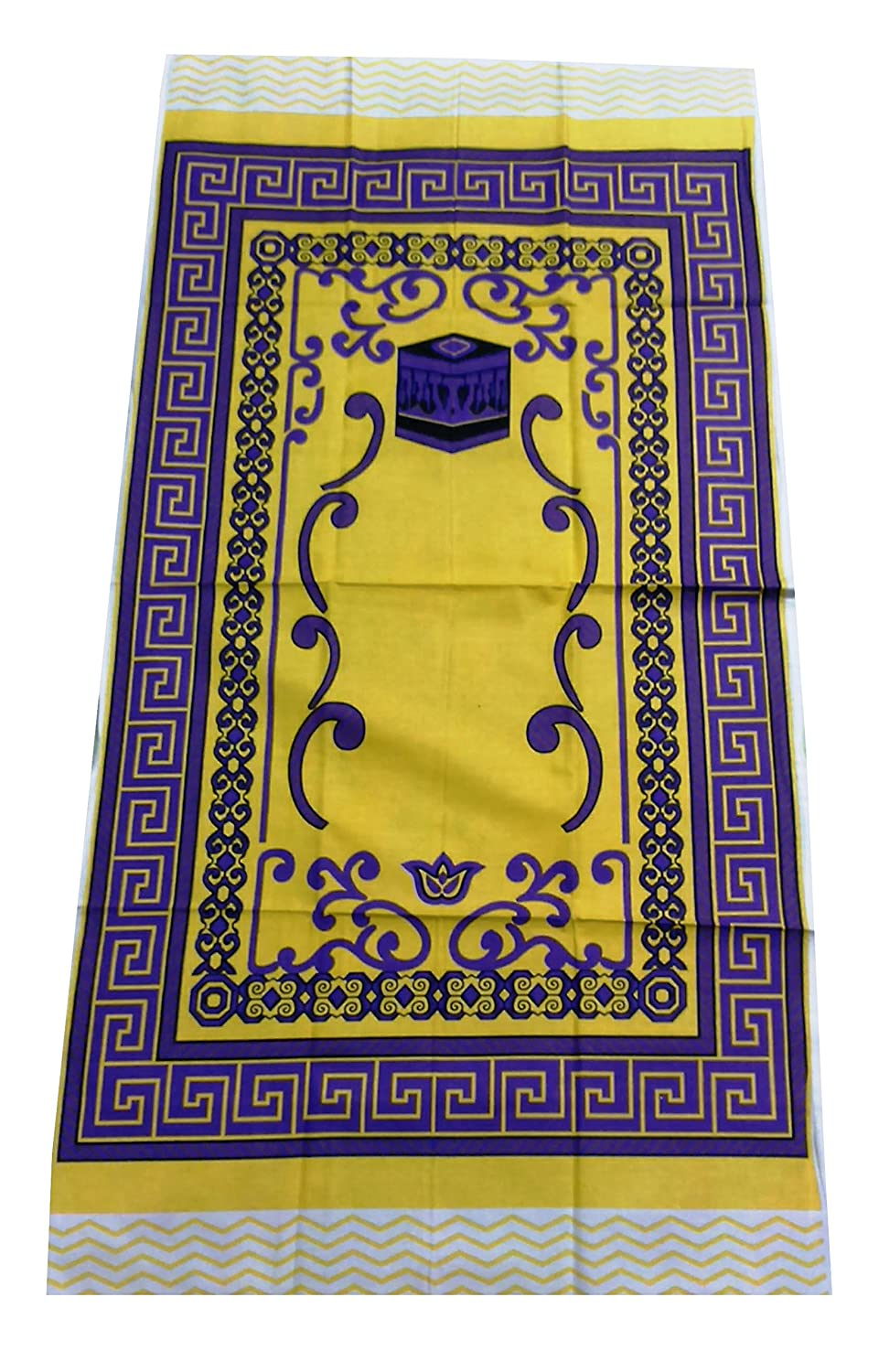 Amn Islamic Portable Very Thin Prayer Mat Muslim Janamaz Namaz Praying Sajadah - Yellow Muslim Sajadah SJDYL001