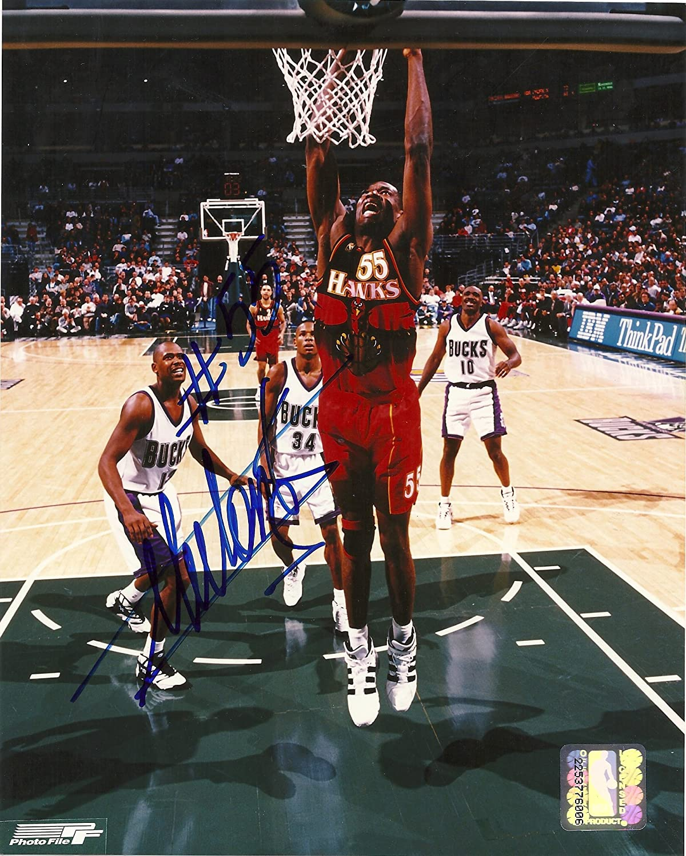 online store 3e733 59bd4 Dikembe Mutombo, Atlanta Hawks, Georgetown Hoyas, Signed ...