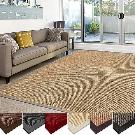casa pura sisal rug 100 natural fiber area rug nonskid eco