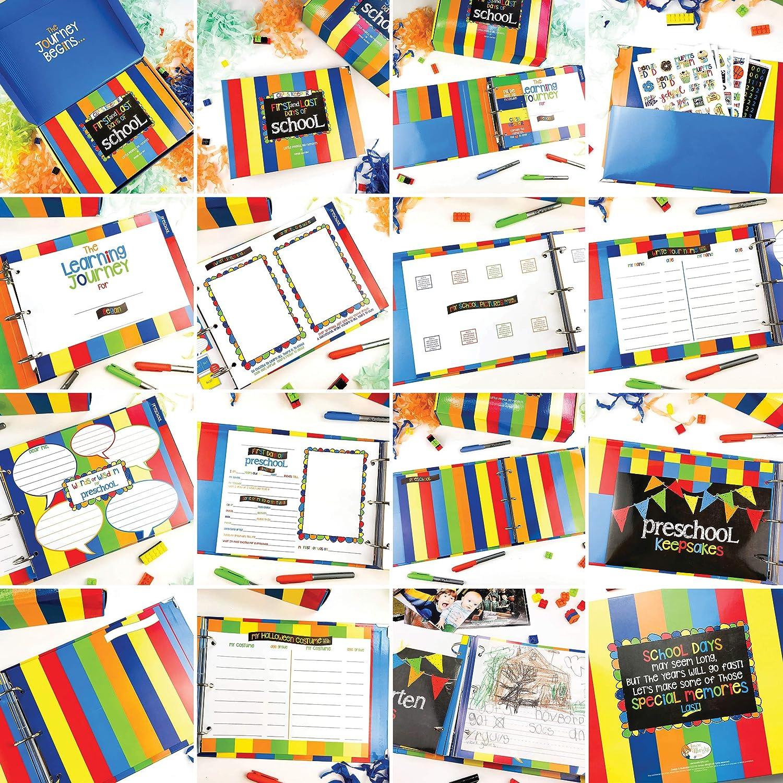 School Memory Book Keepsake Album Scrapbook for Kids Memories Preschool to College with Pocket for Every Grade Class Photos School Pictures