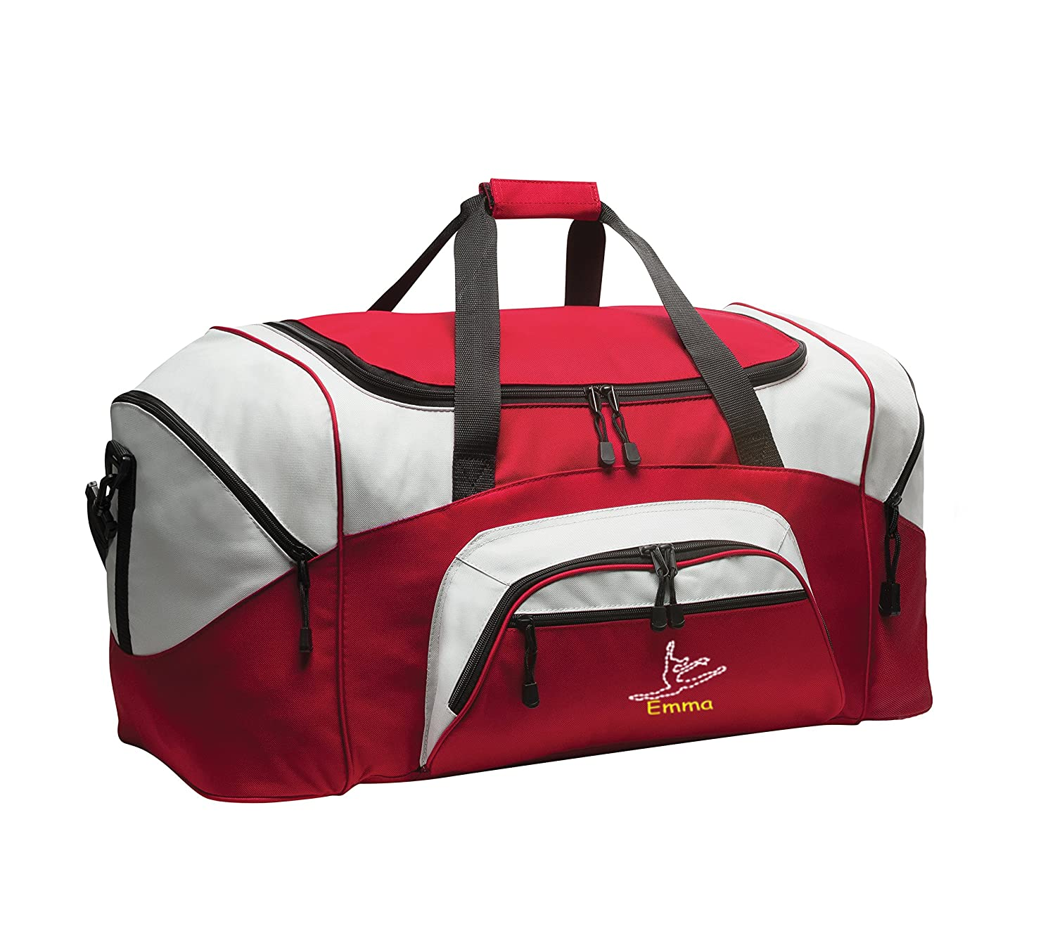 Personalized Dance Gym Bag all about me company Standard Colorblock Sport Duffel Bag