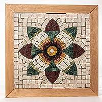 Flor de Granada - Mosaico DIY Kit - 23x23 cm Teselas de mosaico de mármol italiano - Idea regalo original - Mandala de…