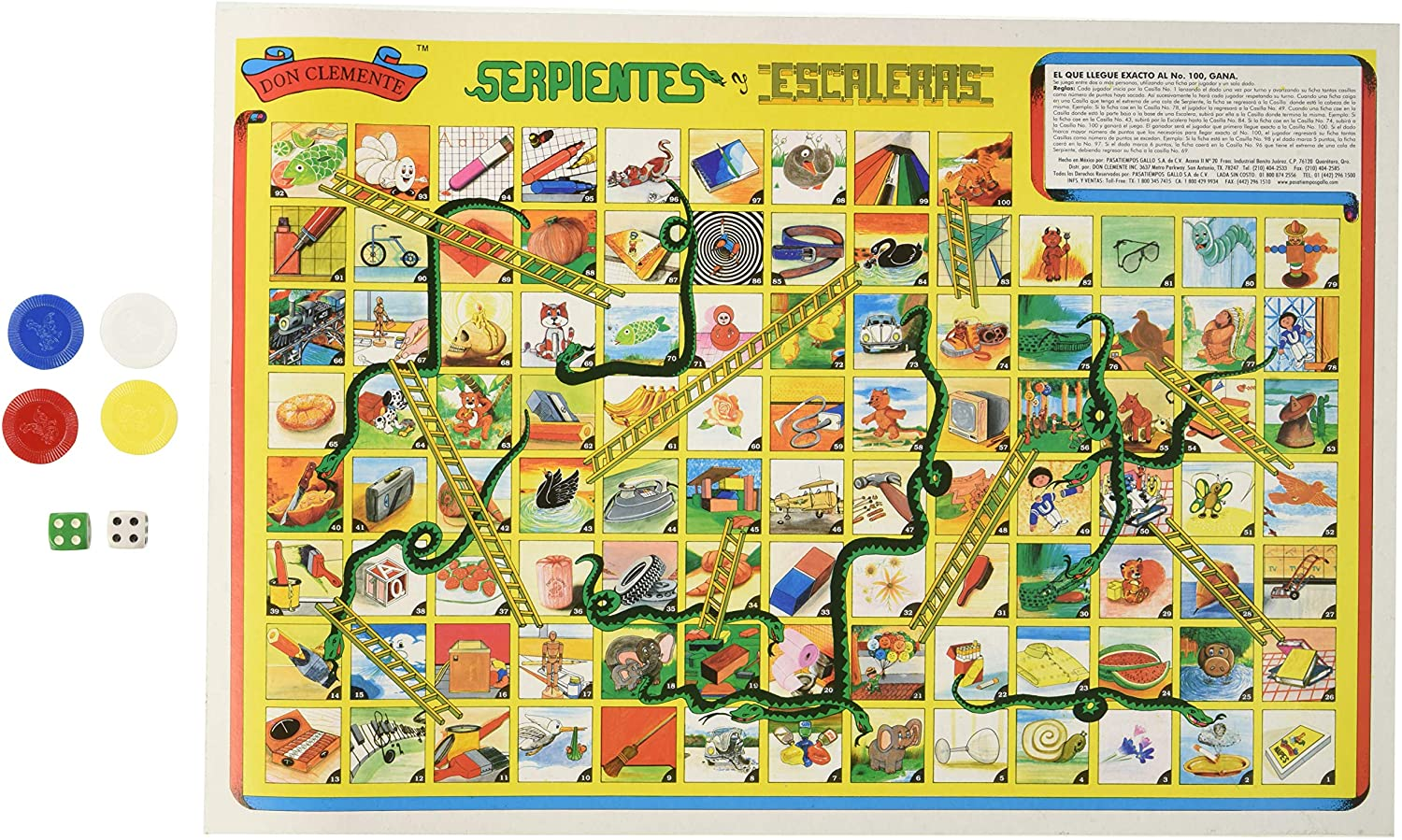 Serpientes Y Escaleras Don Clemente Authentic Mexican Game by Don Clemente: Amazon.es: Juguetes y juegos