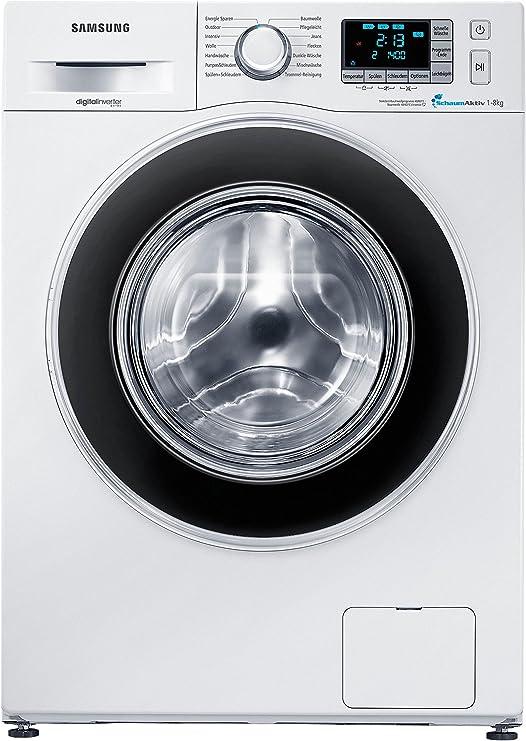 Samsung WF80F5EBP4W Freestanding 8kg 1400RPM A+++ Negro, Color ...