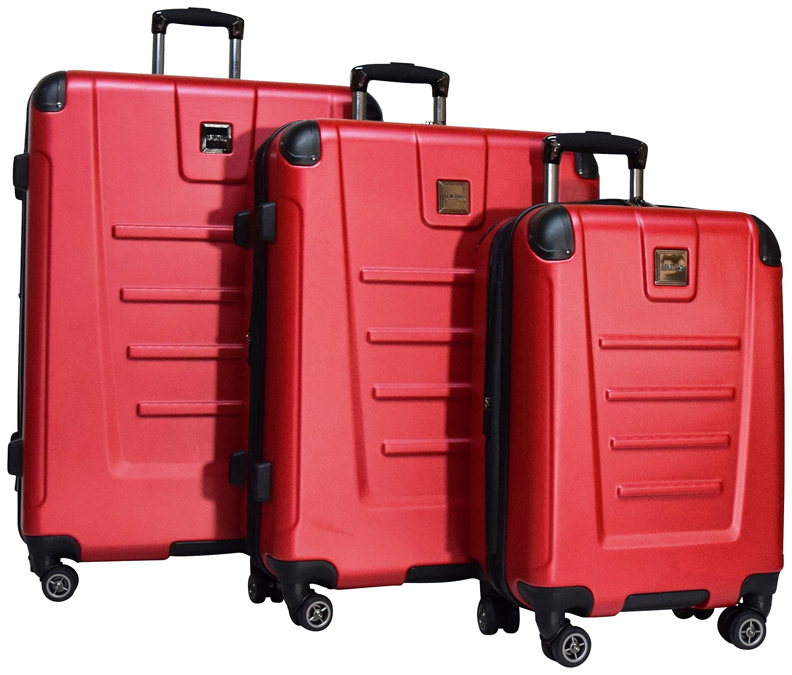 Kenneth Cole Reaction Get Away 3 Piece Expandable Spinner Set: 29'', 25'', and 20'' (Red) by Kenneth Cole REACTION