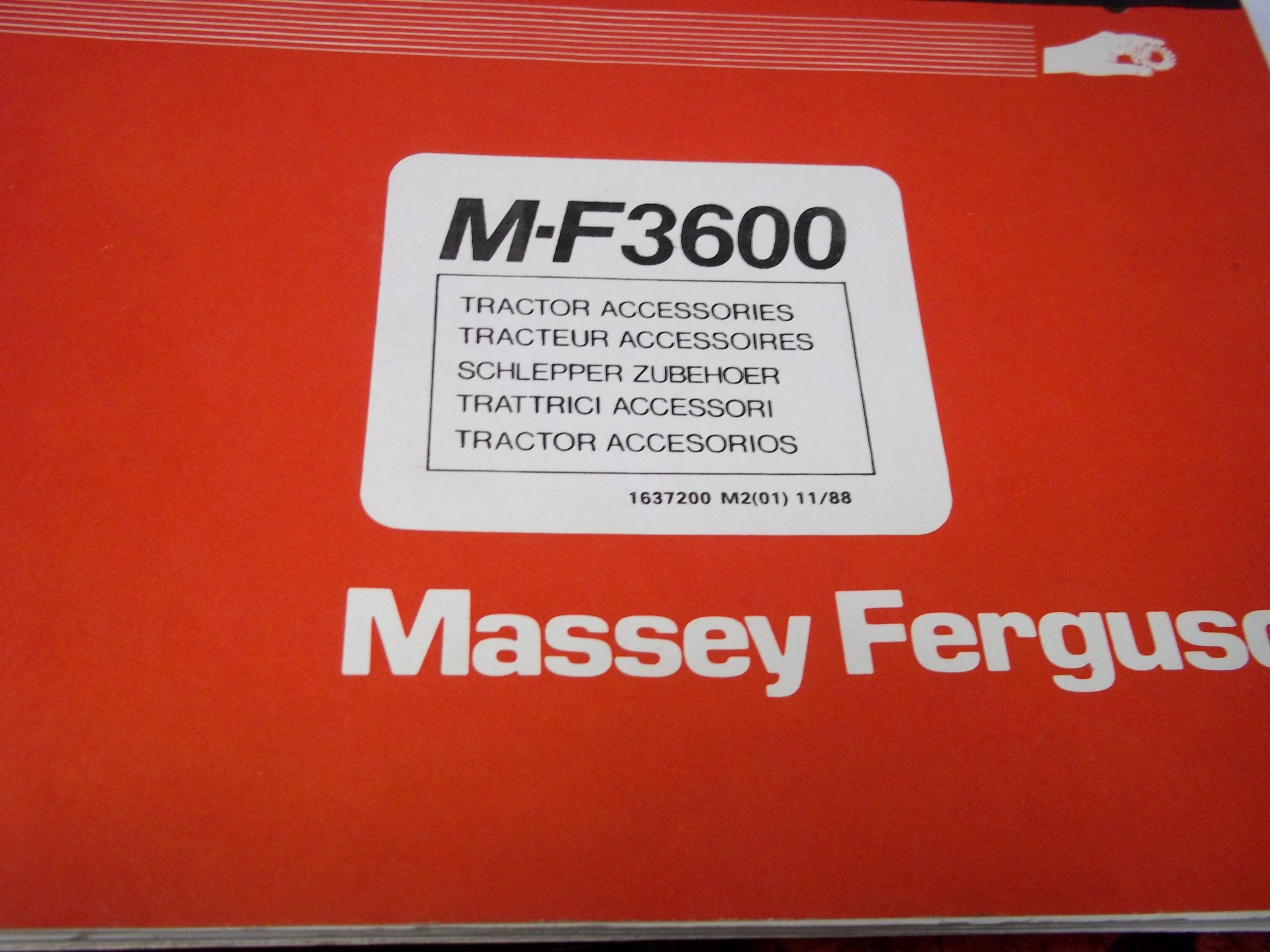 Massey Ferguson 3600 Tractor Accessories Parts Manual