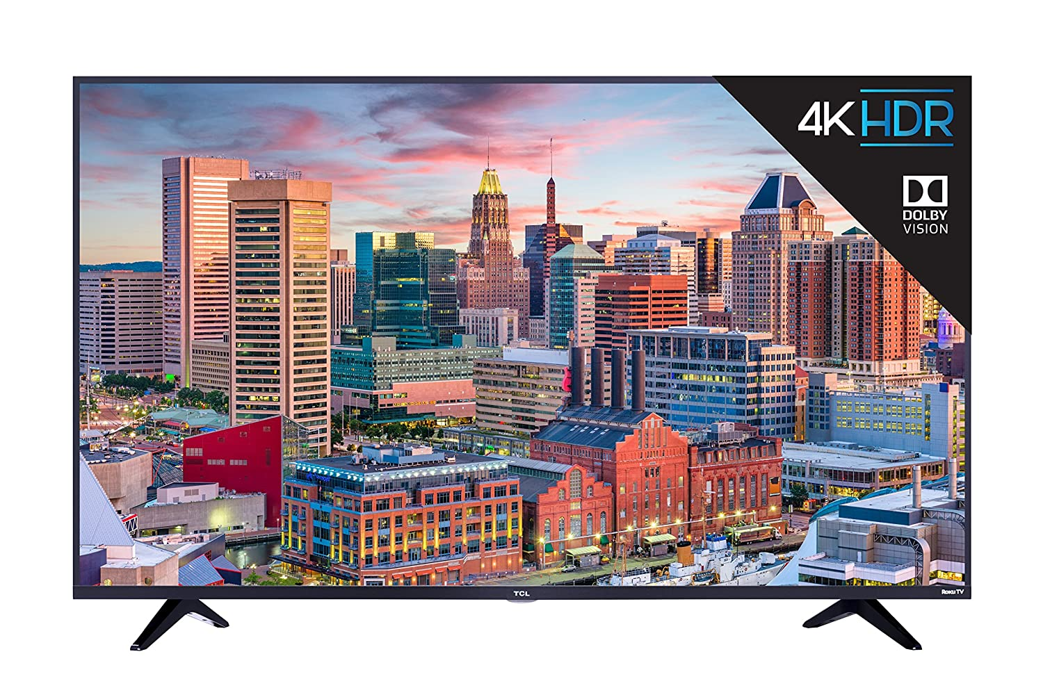 TCL 55S517 55-Inch 4K Ultra HD Roku Smart LED TV Black Friday Deals 2019