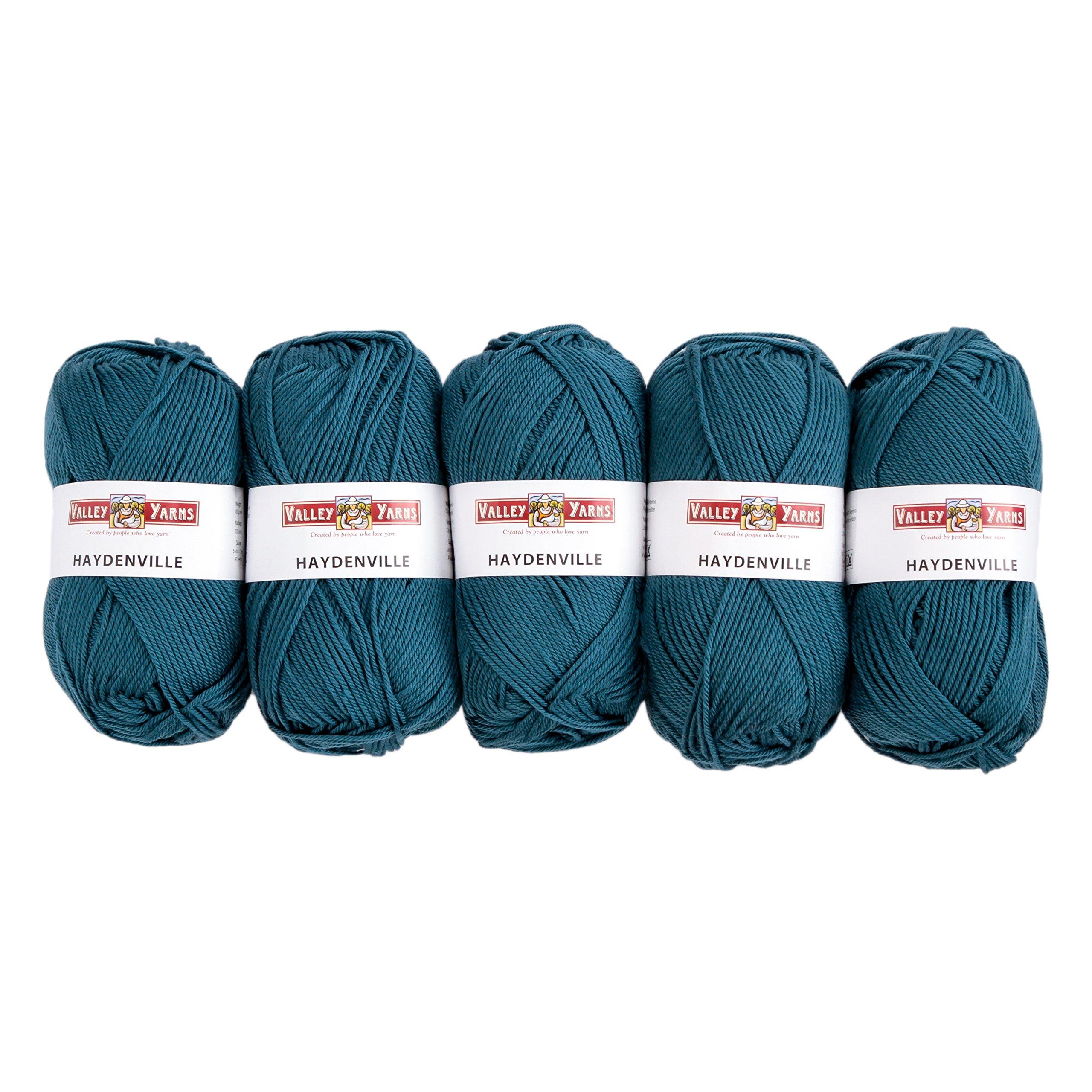 Valley Yarns Haydenville 5-Pack (Washable Worsted Weight Yarn, 60% Superwash Merino Wool/ 40% Acrylic Microfiber) - #11 Teal