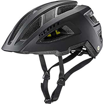 Scott Groove Plus Bicicleta Casco Negro 2018, Color Negro Mate, tamaño Small/Medium